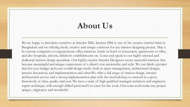 3 Services O ARCHITECTURE INTERIOR DESIGN