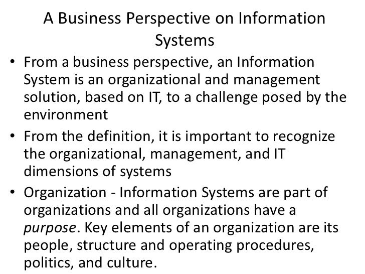 Information Systems-Lecture One