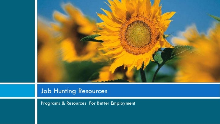 <ul><li>Programs & Resources  For Better Employment </li></ul>Job Hunting Resources