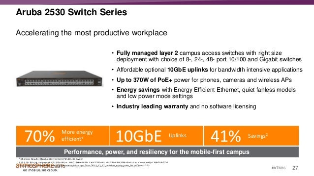 Overview Of Major Aruba Switching Features Incl Smart