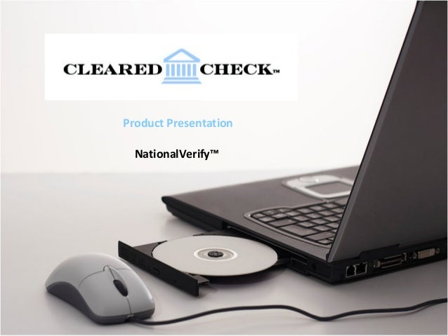 Product PresentationNationalVerify™