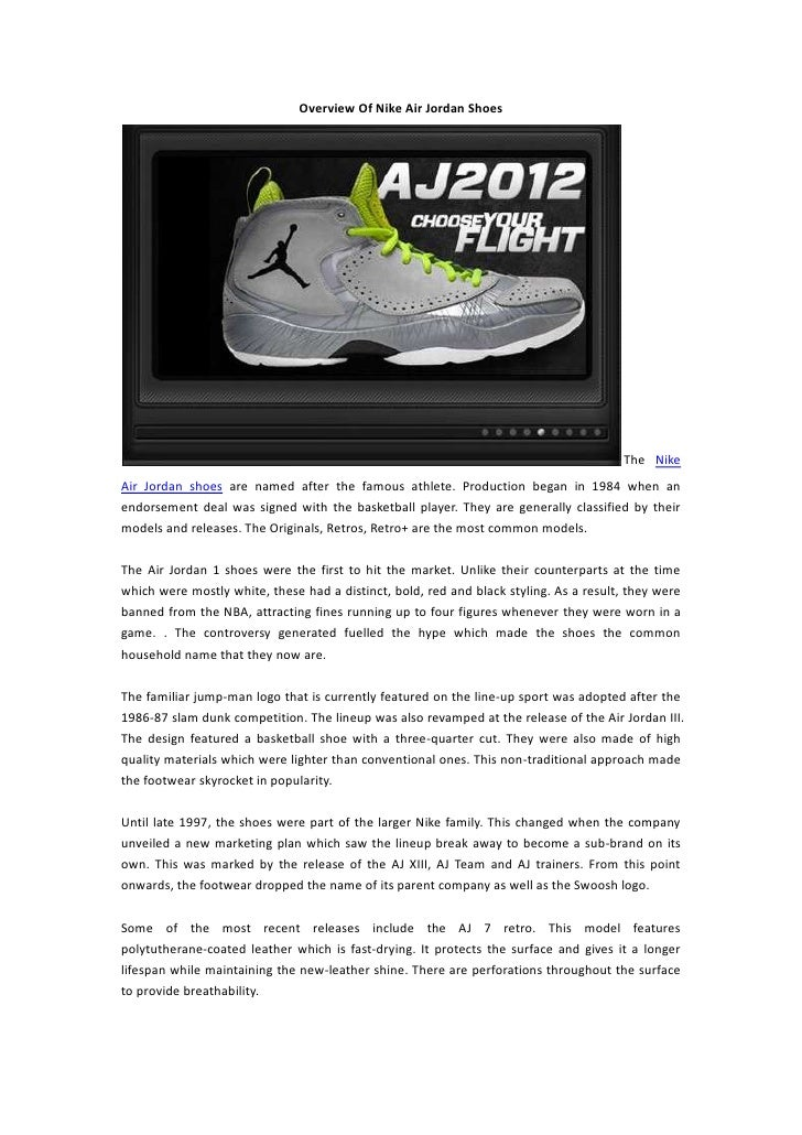 9fe307a8fa4 Overview Of Nike Air Jordan Shoes ...