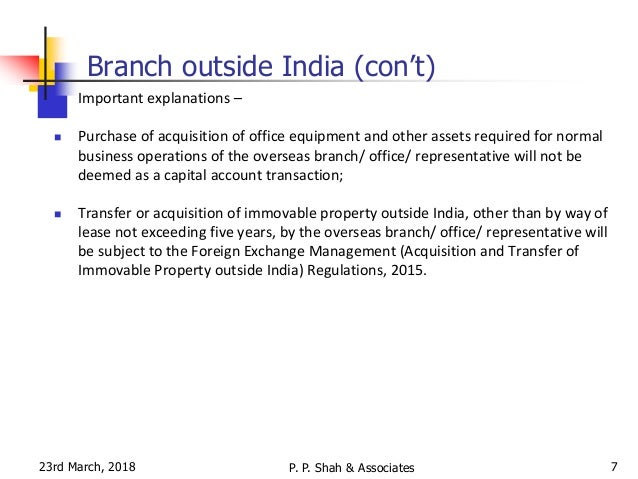 Overview of odi under fema bca 23 03 2018