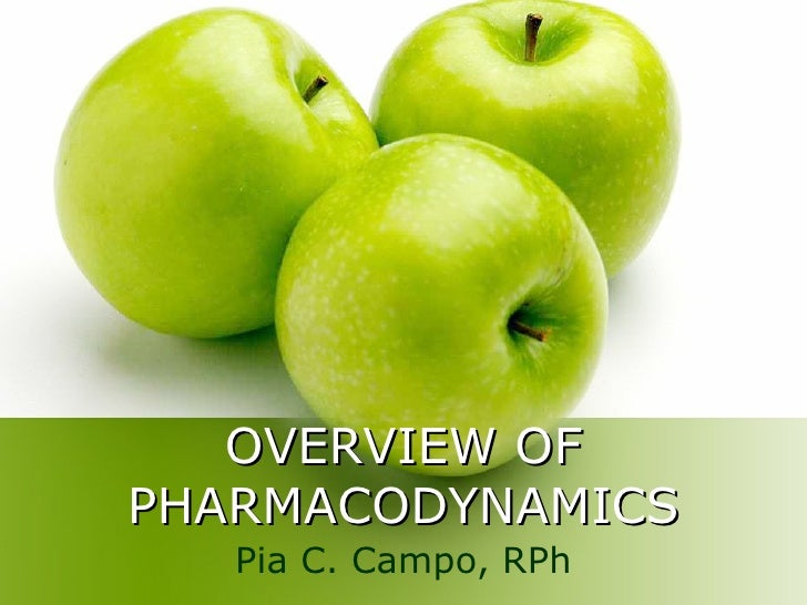 OVERVIEW OF PHARMACODYNAMICS Pia C. Campo, RPh