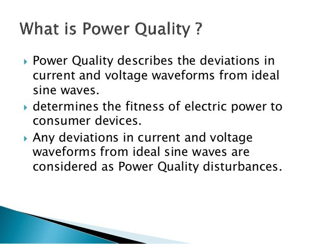 Thesis on power quality problems