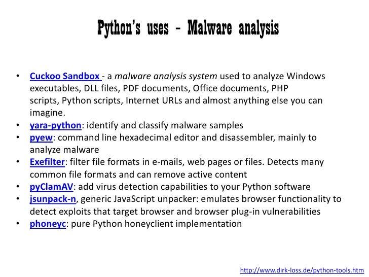 Overview of Python - Bsides Detroit 2012