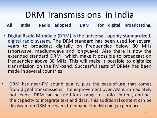Over view of radio broadcasting: New trends