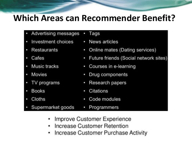 Overview of recommender system