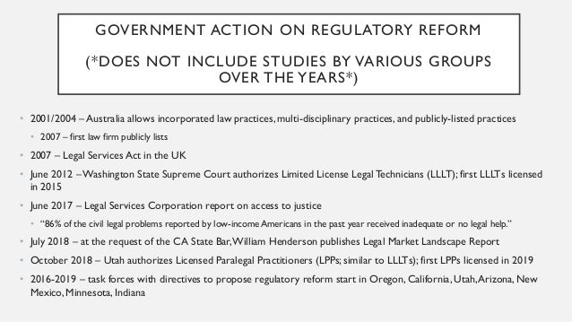 GOVERNMENT ACTION ON REGULATORY REFORM (*DOES NOT INCLUDE STUDIES BY VARIOUS GROUPS OVER THE YEARS*) • 2001/2004 – Austral...