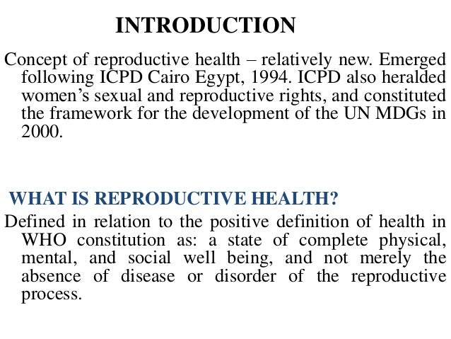 Sexual And Reproductive Rights Of Women 115
