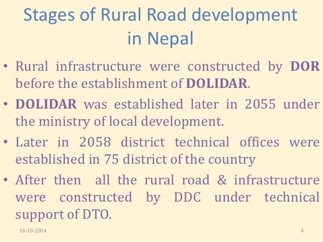thesis on rural development in nepal Nepal social, economic and political context in toward the achievement of the millennium development goals undp's nepal human development report 2009 found.