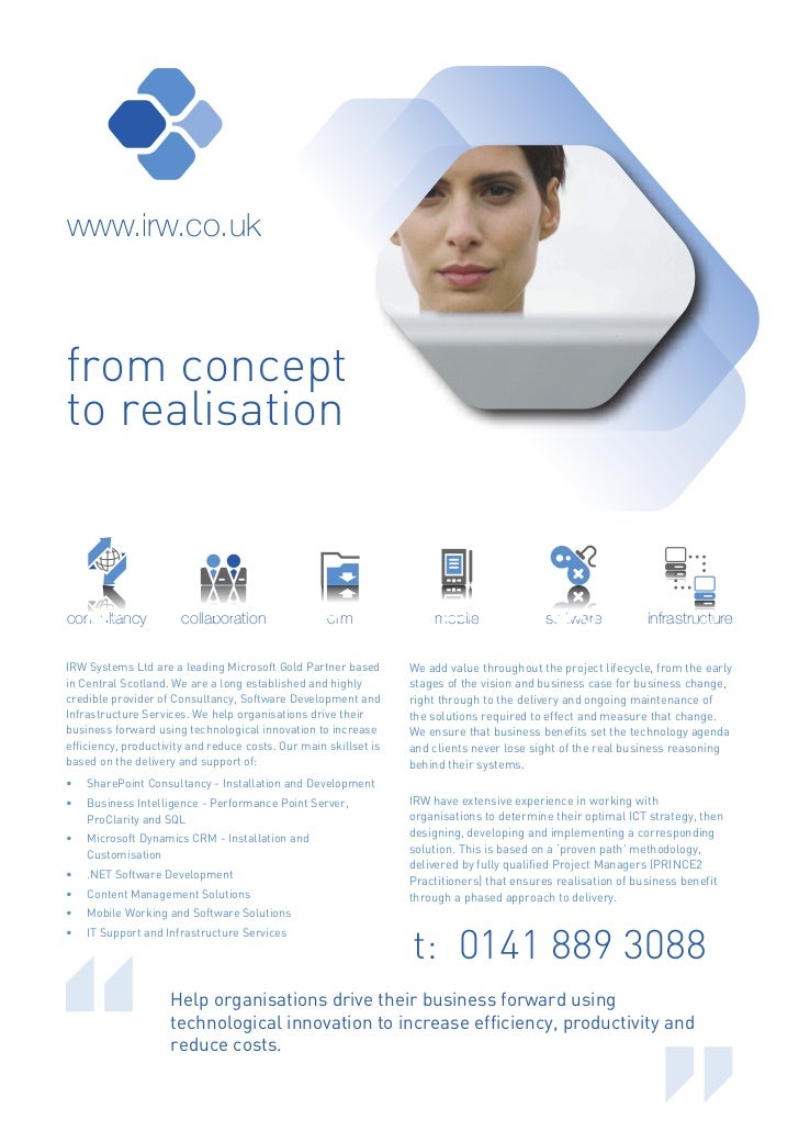 www.irw.co.ukfrom conceptto realisationconsultancy            collaboration                crm               mobile       ...
