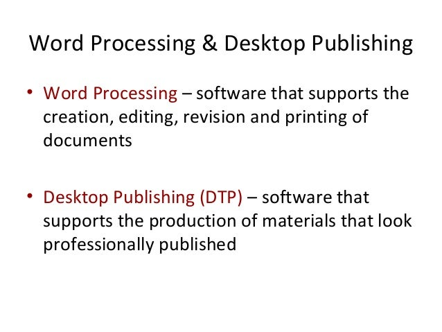 an analysis of the desktop publishing and its reflection on the personal presentation Define the basic hardware and software concepts associated with personal use desktop publishing features eg create and use animation in a presentation.