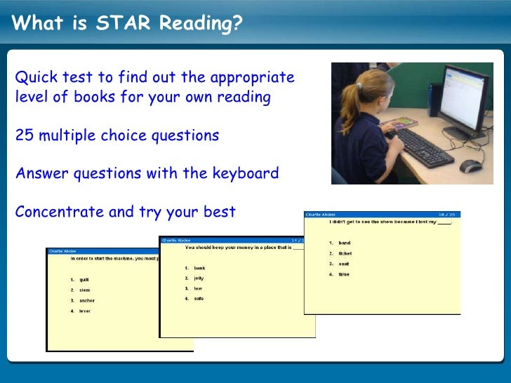 Accelerated Reader and Star Read Tests