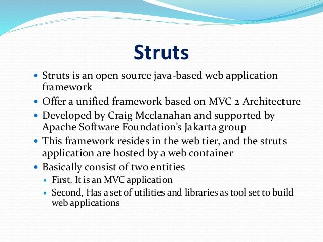 Overview of struts framework for Struts 2 architecture
