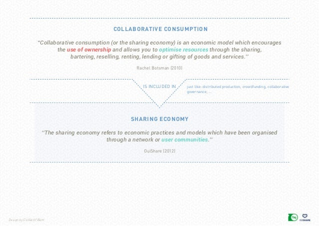 Design by Collectif Bam collaborative consumption is included in just like: distributed production, crowdfunding, collabor...