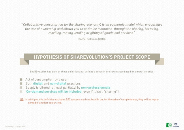 Design by Collectif Bam Act of consumption by a user Both digital and non-digital practices Supply is offered (at least pa...