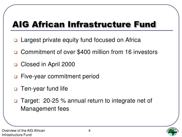 AIG African Infrastructure Fund News | AIG African ...