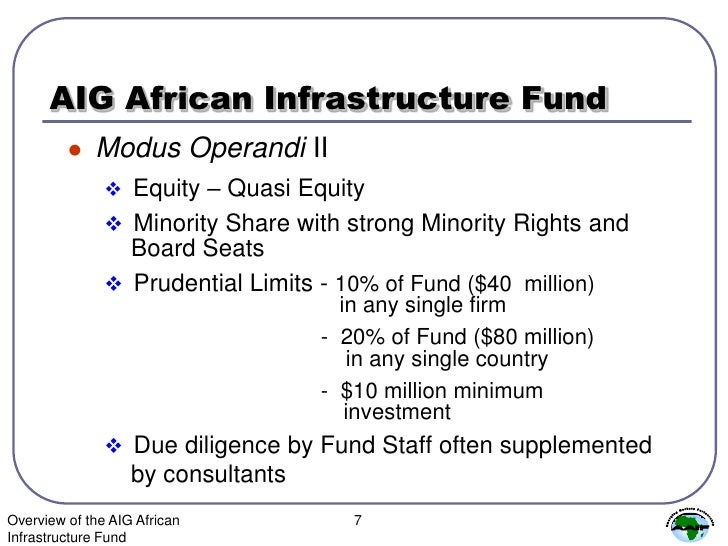 Overview Of The Aig African Infrastructure Fund - SlideShare