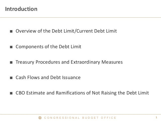 Overview of the Debt Limit and Extraordinary Measures Slide 2