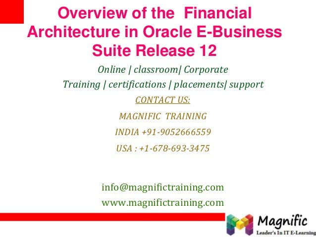 Overview of the Financial Architecture in Oracle E-Business Suite Release 12 Online | classroom| Corporate Training | cert...