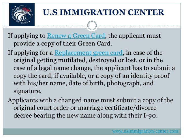 Overview of the green card renewal (form i 90) application ...