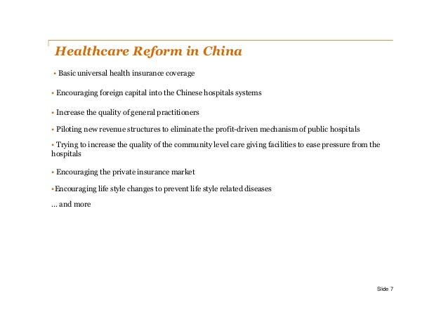 healthcare system in china China healthcare market and key recent policy updates  china healthcare  reform is to establish a basic universal healthcare system that provides.