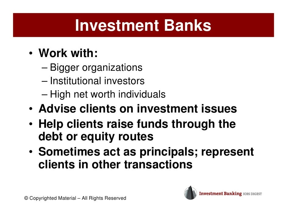 investment banking essay Free essay: analysis of a career in investment banking analysis of a career in investment banking introduction what is investment banking dictionary defines.