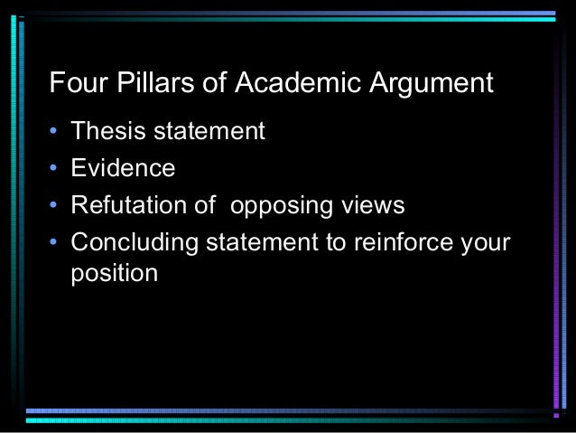 thesis of an argument essay