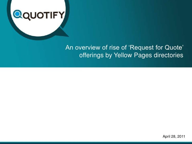 Click To Edit Master Title StyleAn Overview Of Rise Of U0027Request For Quoteu0027  Offerings ...