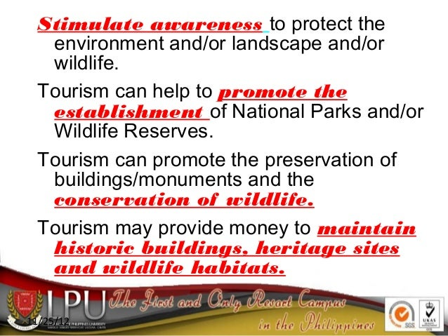 impacts of tourism on national parks Environmental impacts of tourism on us national parks chih-yungwang and paul s mrxo thepurpose ofthisstudy was toidentifyperceived tourismimpacts on the natural.
