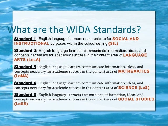 overview of wida