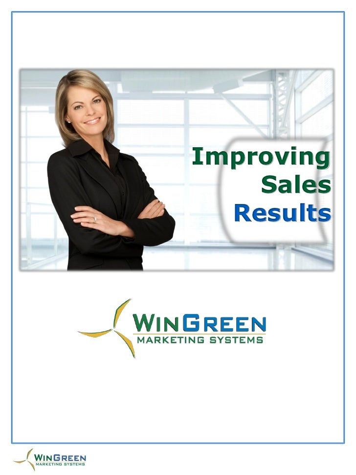Improving     Sales      `    Results