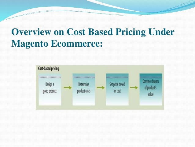 Overview on Cost Based Pricing Under  Magento Ecommerce: