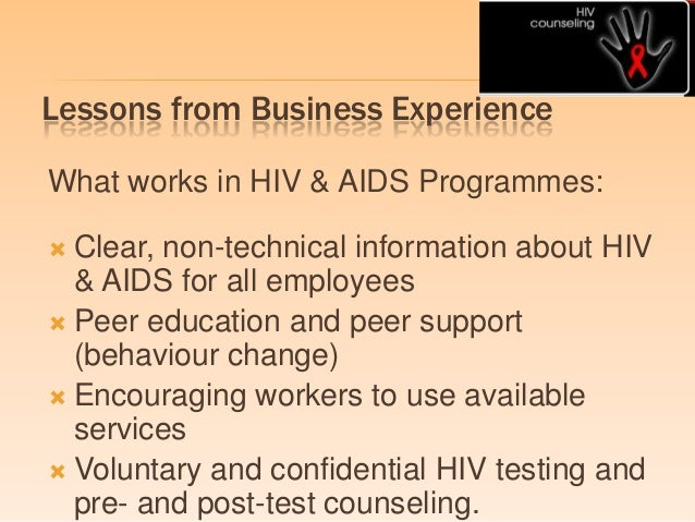 Online HIV/AIDS Awareness And Prevention Class