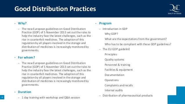 Good distribution practices for pharmaceutical products ppt