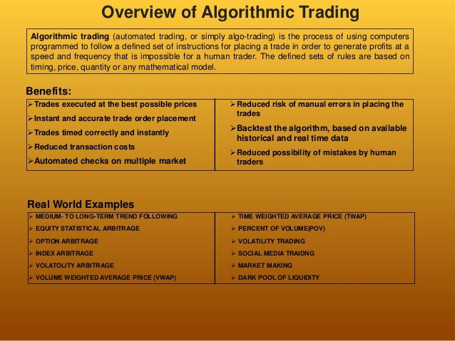 Overview quantitative trading_by_barunsharma
