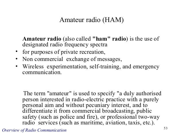 Overview of Radio Communication