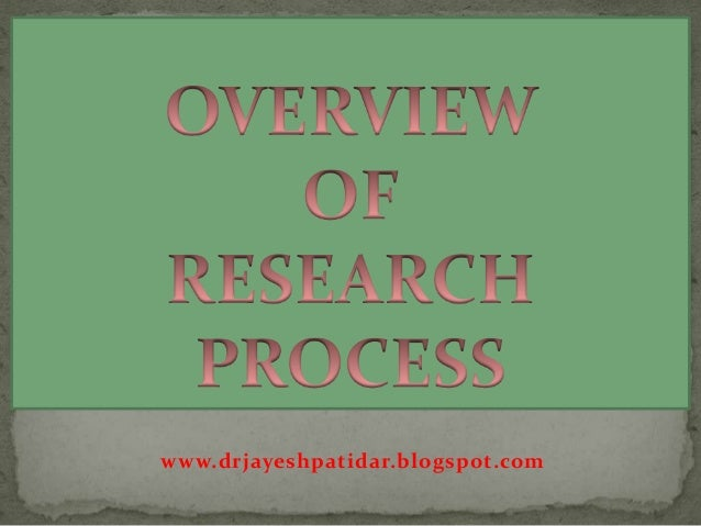 overview of the research process for Titative research—hypotheses are seldom used in action research integrated into the specification of research questions and hypotheses is the identifica - tion of the variables that are central to the action research investigation.