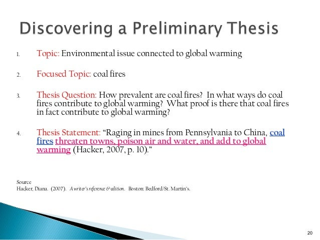 thesis statement on global terrorism