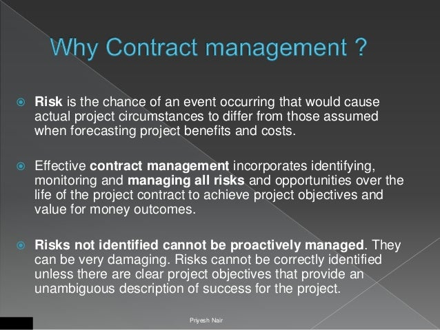 Overview to contract management