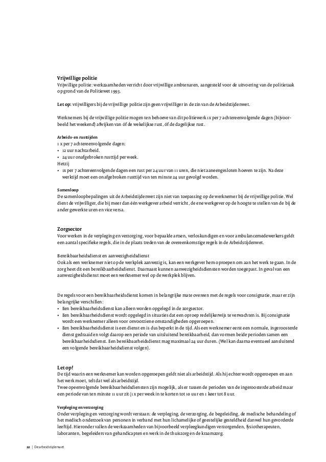 overtreding arbeidstijdenwet door werknemer