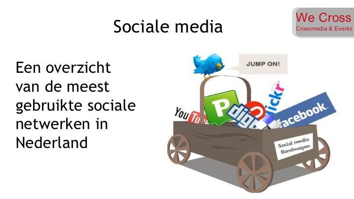 Een overzicht van de meest gebruikte sociale netwerken in Nederland Sociale media  We Cross Crossmedia & Events