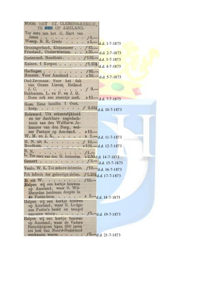 d.d. 1-7-1873 d.d. 2-7-1873 d.d. 3-7-1873 d.d. 4-7-1873 d.d. 5-7-1873 d.d. 7-7-1873 d.d. 10-7-1873 d.d. 11-7-1873 d.d. 12-...