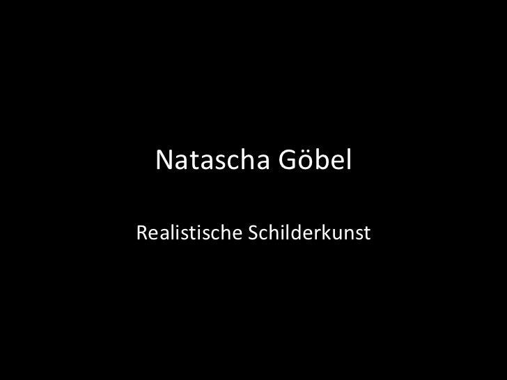 Natascha Göbel Realistische Schilderkunst