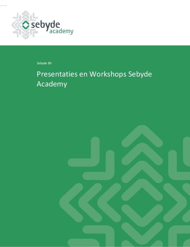 Sebyde BV Presentaties en Workshops Sebyde Academy