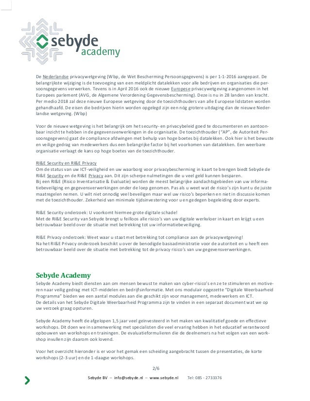 Overzicht workshops sebyde academy Slide 3