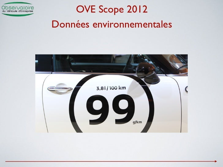 OVE Scope 2012Données environnementales