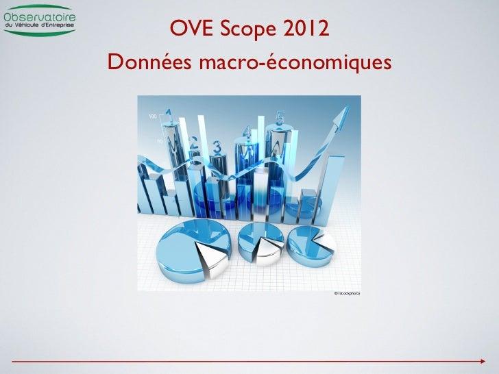 OVE Scope 2012Données macro-économiques                   © Istockphoto