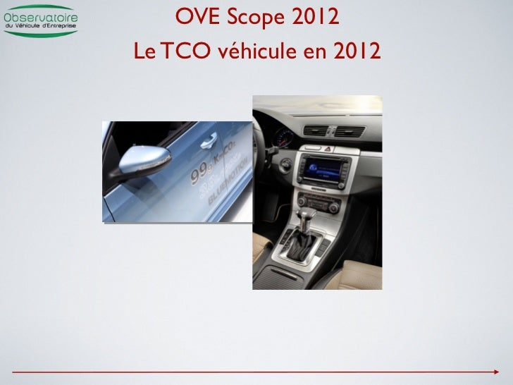 OVE Scope 2012Le TCO véhicule en 2012